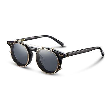 65d2896878 LLZTYJ Gafas De Sol UV Aire Viento Polarizador Espejo Gafas De Sol Clip  Macho Coche Vasos