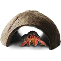 Eco-friendly Hermit Crab hut - Pet-safe arthropod's hideout - Natural, spacious Coco tunnel - Maximum Privacy, Ideal breeding ground - Encourages physical activity - Use as hermit cave or climber