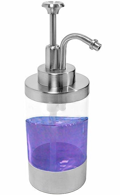 Dispensador de jabón de acero inoxidable cepillado metal & de jabón líquido loción dispensador para encimeras