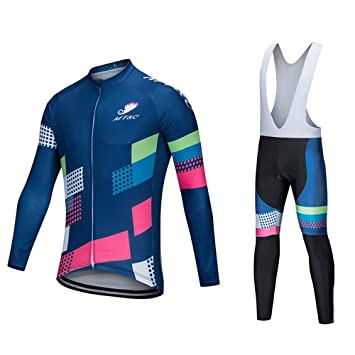 4b2e456cf GWJ Mens Classic Cycling Jersey Winter Thermal Bike Top + Cycling Culotte  con Tirantes  Amazon.es  Deportes y aire libre