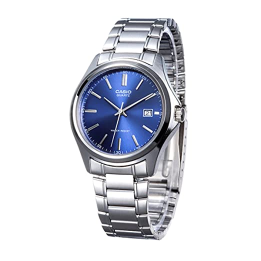 eb5ab3e2a Casio Men's Watch MTP-1183 A-2AEF - Analogue Quartz - Blue Dial - Steel  Bracelet Silver: Amazon.co.uk: Watches