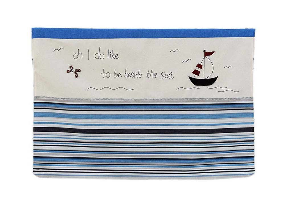 Gentle Meow Home Creative 50-Inch TV Cloth Decorative Dustproof Cover, Small Sailboat