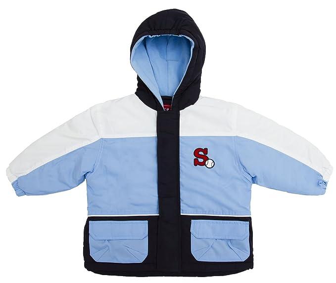 Brubaker - Niños chaqueta Joven con reflector rayas, Dupont Dual Action revestimiento azul Talla 86 - 98: Amazon.es: Ropa y accesorios