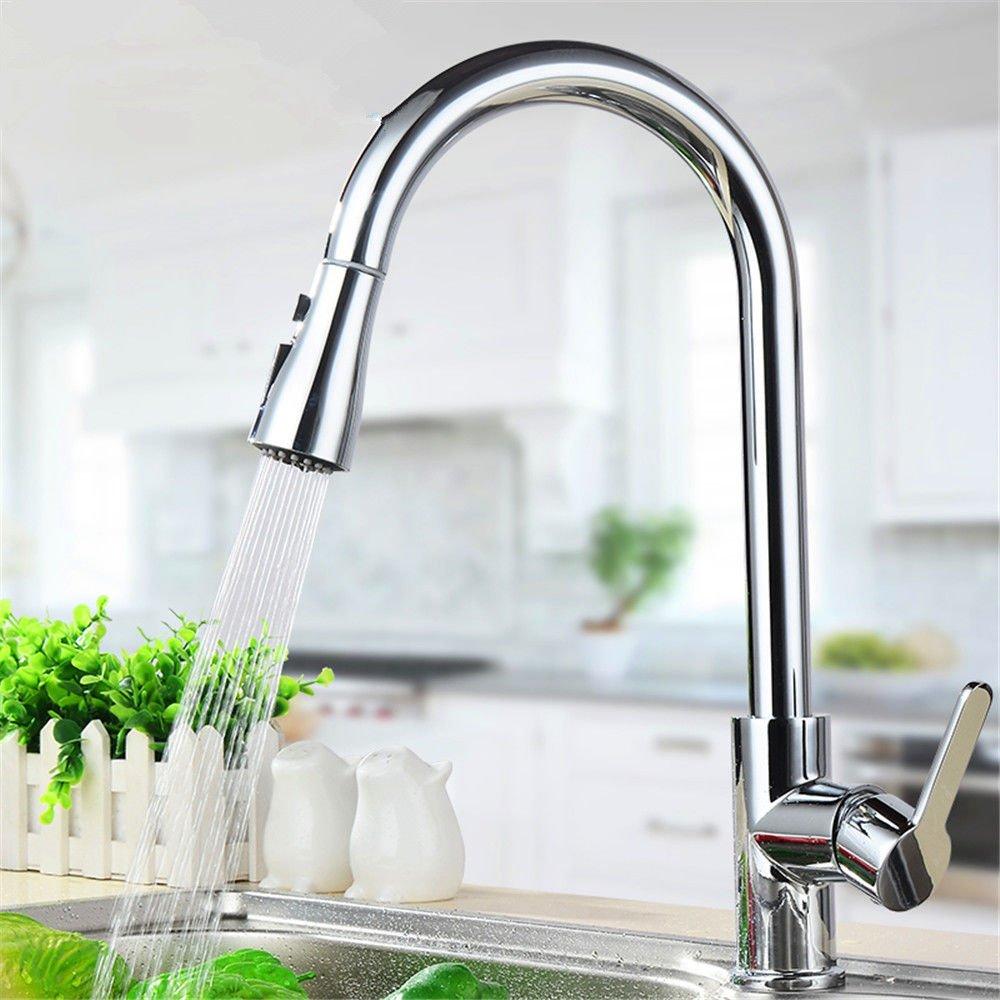 Wasserhähne Warmes und kaltes Wasser Größe Qualität Küche Leitungswasser voll Kupfer ziehen Sie die Tap-Tap Wassertank, Geschirrspülen in einer Badewanne Leitungswasser und kaltes Wasser Leitungswasser