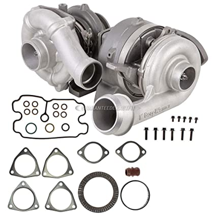 Amazon.com: Compound Turbo Kit With Turbocharger Gaskets For Ford F250 F350 F450 6.4 Diesel - BuyAutoParts 40-80476V3 Remanufactured: Automotive