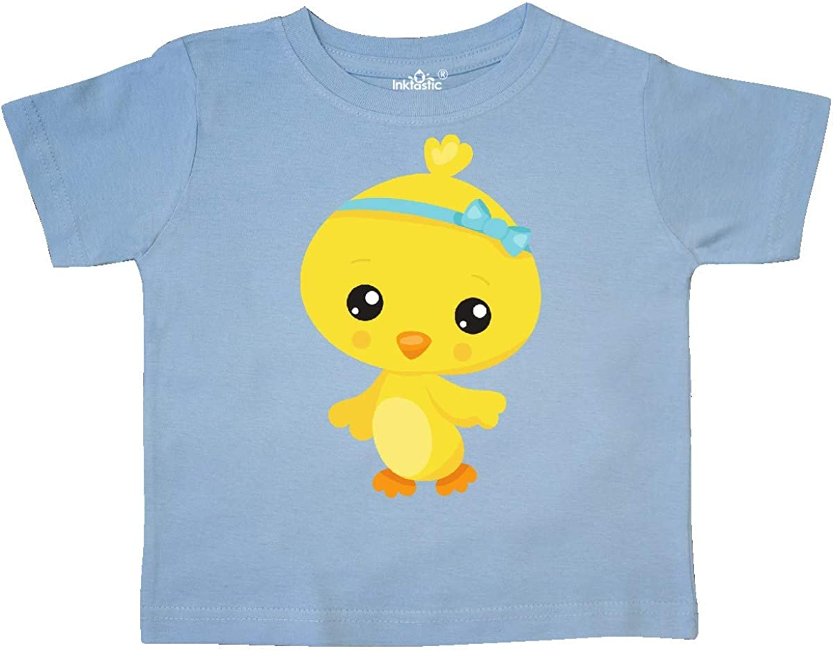 inktastic Cute Little Chicken Chicken with Blue Ribbon Toddler T-Shirt