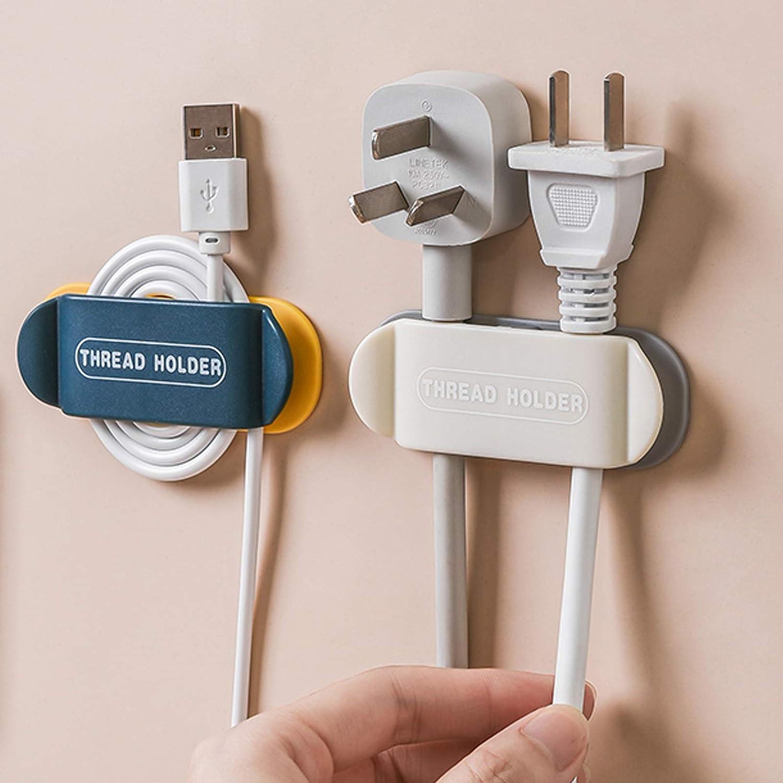 Autoadhesivo JOLIGAEA Clips de cables Cocina Sistema De Entretenimiento Hogar U Oficina Para Ba/ño 4 Piezas Organizador Cables Escritorio Organizador De Gesti/ón De Cables