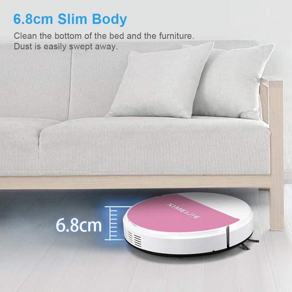 Festnight Robot Aspirador 1800Pa con Funci/ón Escoba UV Sweeper Aspiradora Inteligente Ideal para Pelo de Animales Alfombras y Suelos Duros