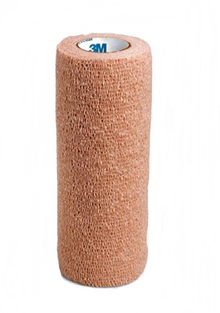 1/Case of 12 -3M Coban Self-Adherent Wrap, 6 Inch x 5 Yards, Tan, Model 3M1586