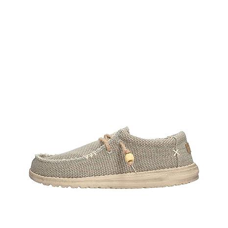 Dude Shoes Men ' S Wally Grey Naturale UK8 EU42