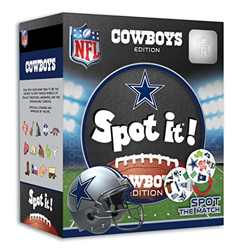 MasterPieces NFL Spot It! Dallas Cowboys Edition (Best Nfl Fantasy Draft App)