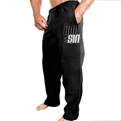 Hopsin LOGO Mens Light Weight Pure Cotton Sweatpants Cargo Pants For Running
