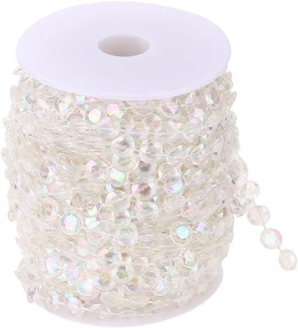 1000PCS Diamond Strand Acrylic Crystal Bead Curtain Wedding DIY Party Decor