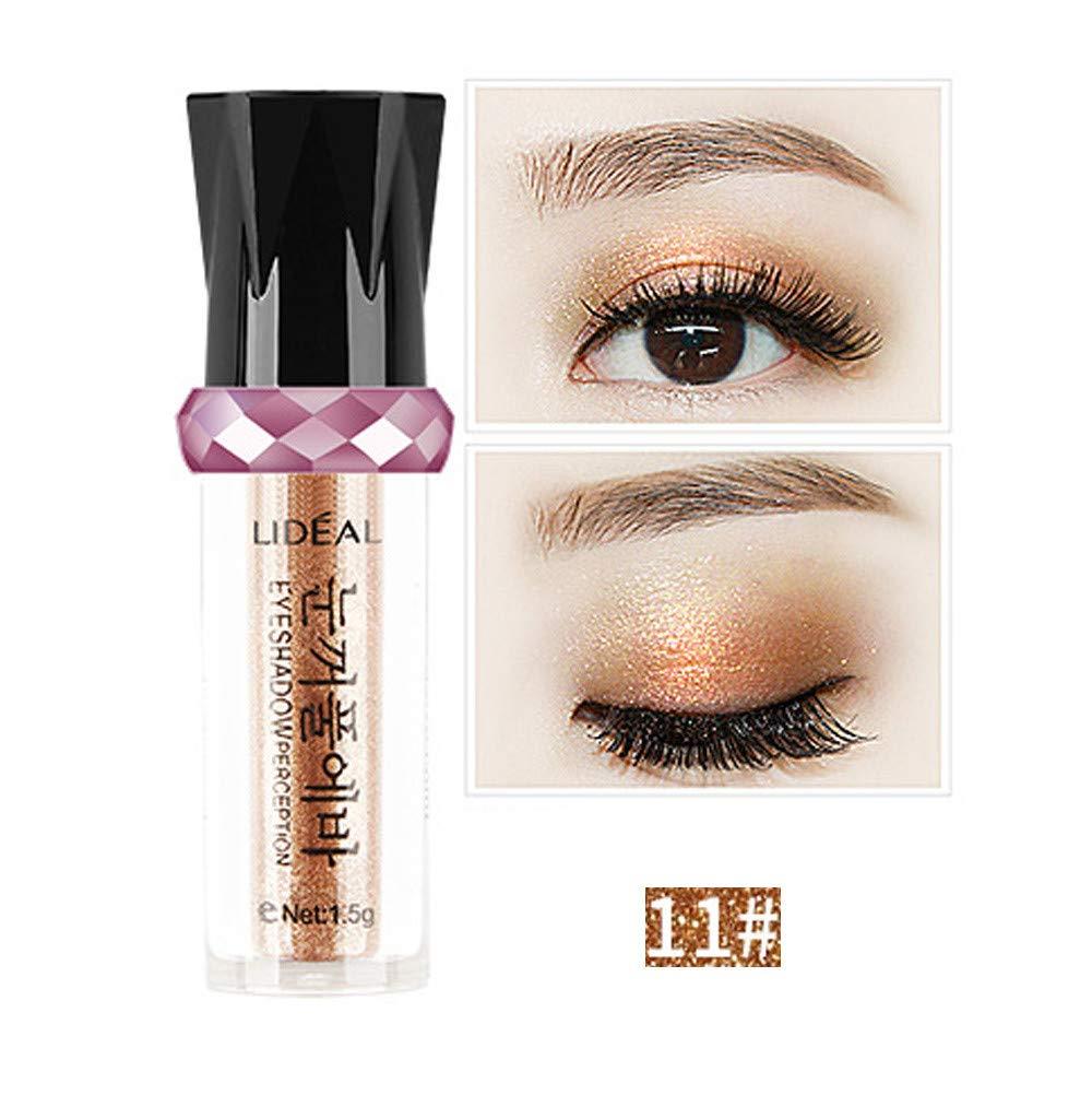 aliveGOT Glitter Liquid Eyeshadow Waterproof Sparkle Eyeliner Long Lasting Metallic Eyeliner Pen Shimmer Eye Shadow for Parties Cosplay Masquerade