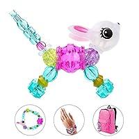 Sunei.f Bracelets d'animaux de Compagnie Magiques colorés pour Les Filles Pop Kit de Fabrication de Bijoux de Perles pour Enfants