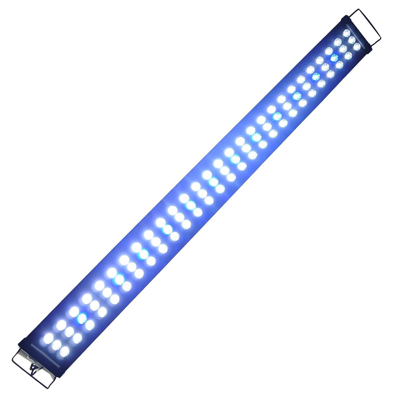 Aquarien Eco Aquarium Beleuchtung LED Aufsetzleuchte Hochleistung Lampe Aquariumleuchte Blau Weiß Lampe 34-120cm