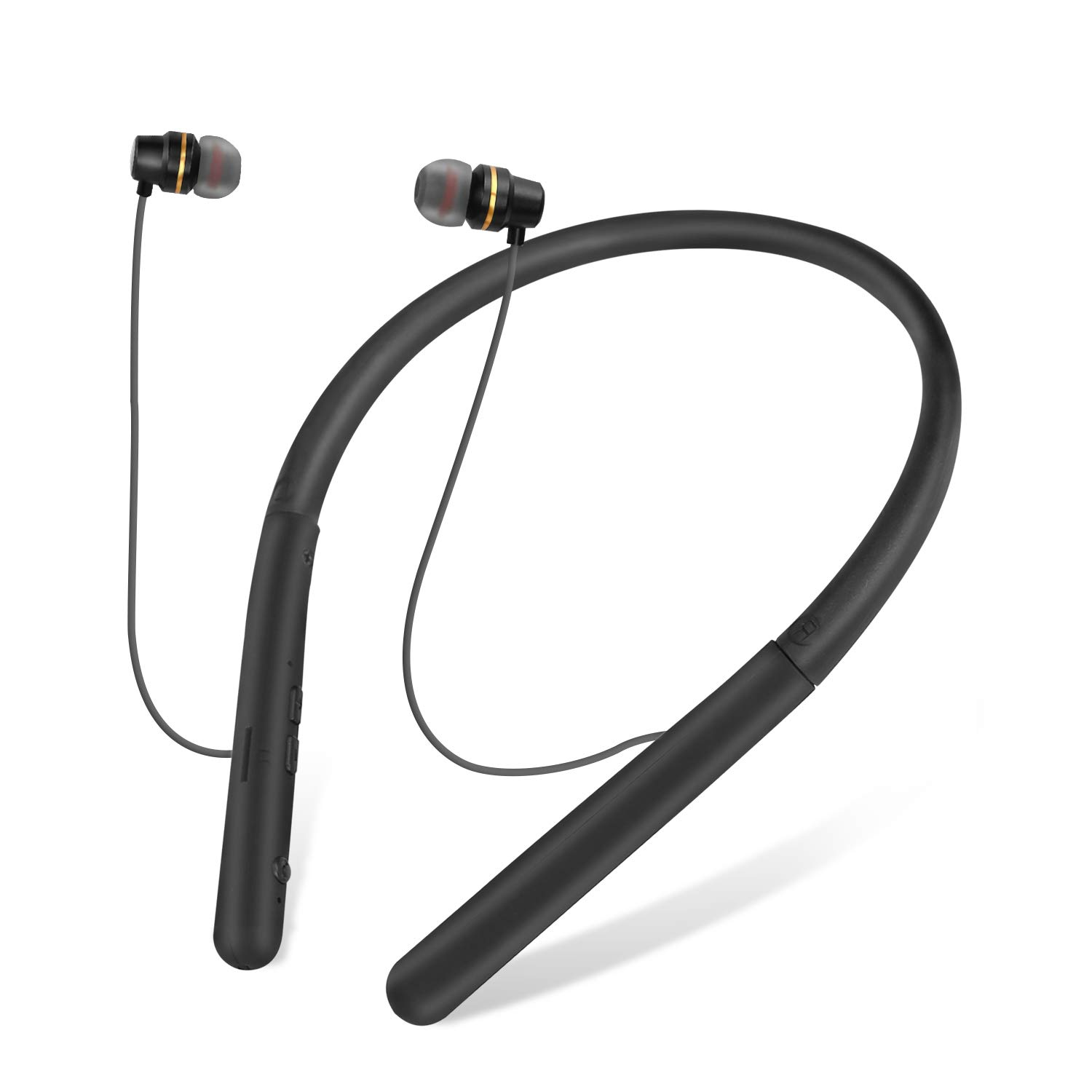 Bluetooth Headphones, Wireless Bluetooth Headset, Sports Sweat-Proof Noise Cancelling Stereo Earphones with Mic