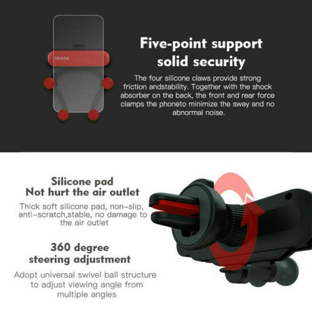 fish Auto Air Vent Grip gravit/à Supporto Universale del Telefono Smartphone Supporto del Telefono Cellulare del Basamento del Supporto dellautomobile del Telefono