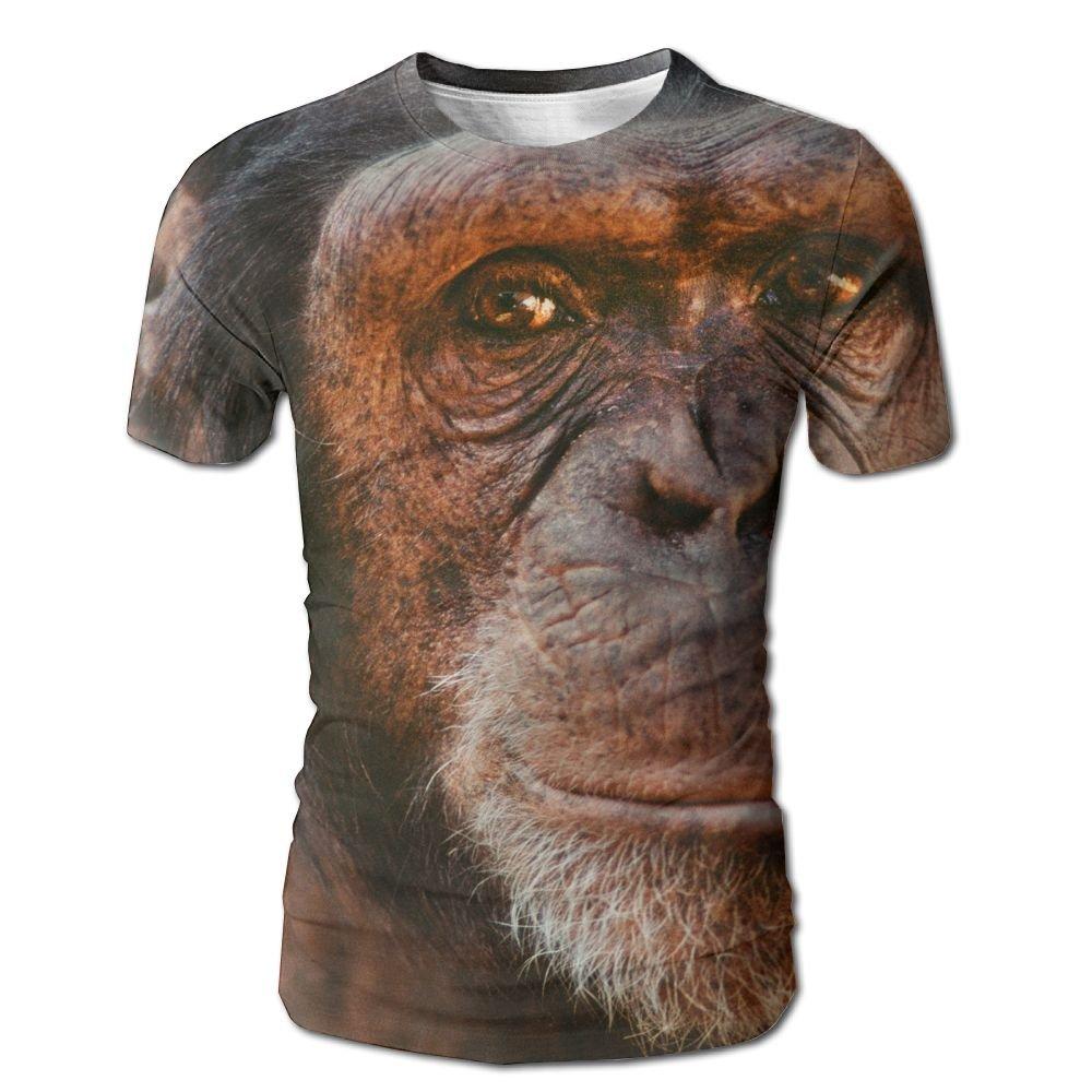 XIA WUEY Africa Chimpanzee AdultFashion Baseball Tshirt Graphic Tees Tops For Running