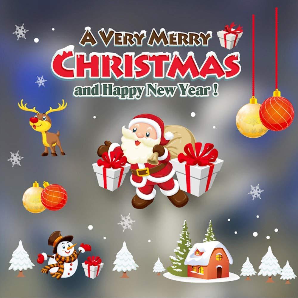 Amazon Com Pausseo Christmas Santa Claus Snowman Elk Xmas Gift