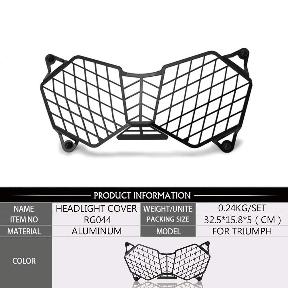 Motorcycle Headlight Grille Light Cover Protective Guard For Triumph Tiger 800 2010-2017 /& Explorer 1200 12-17 Protector cover