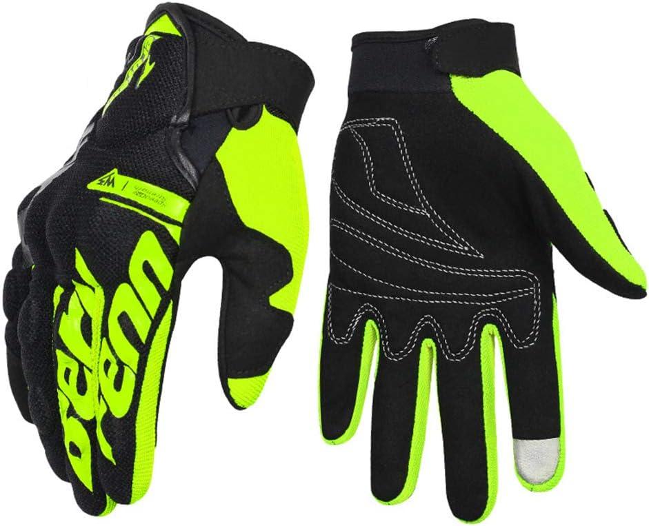 Black,L Guantes Moto Piel Cuero de Verano para Hombre,Guantes Sport Pantalla T/áctil Transpirable para Moto Motocross Ciclismo Deportivos