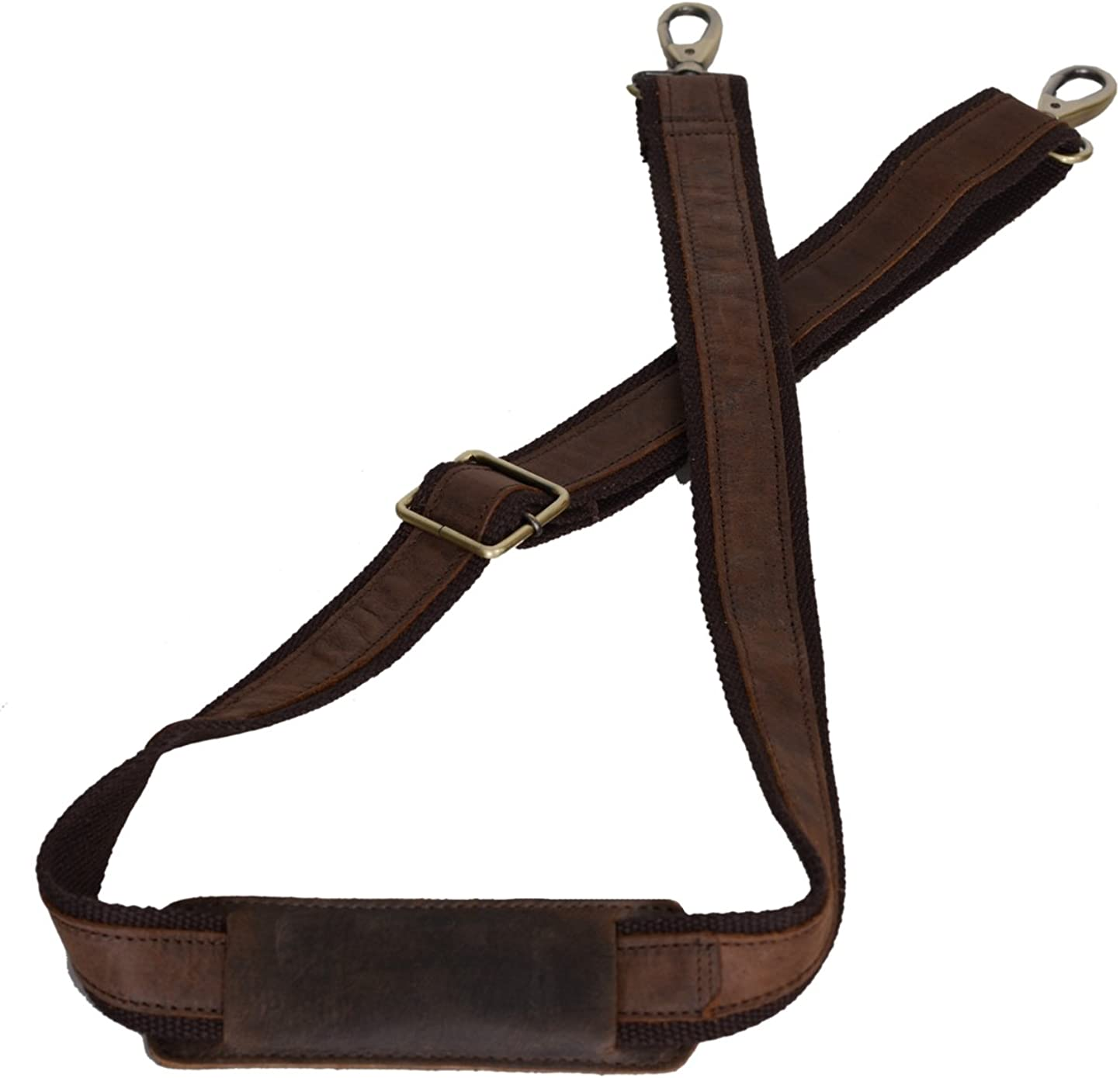 KOMALC LEATHER ADJUSTABLE PADDED SHOULDER STRAP FOR LAPTOP CAMERA DUFFLE BAGS