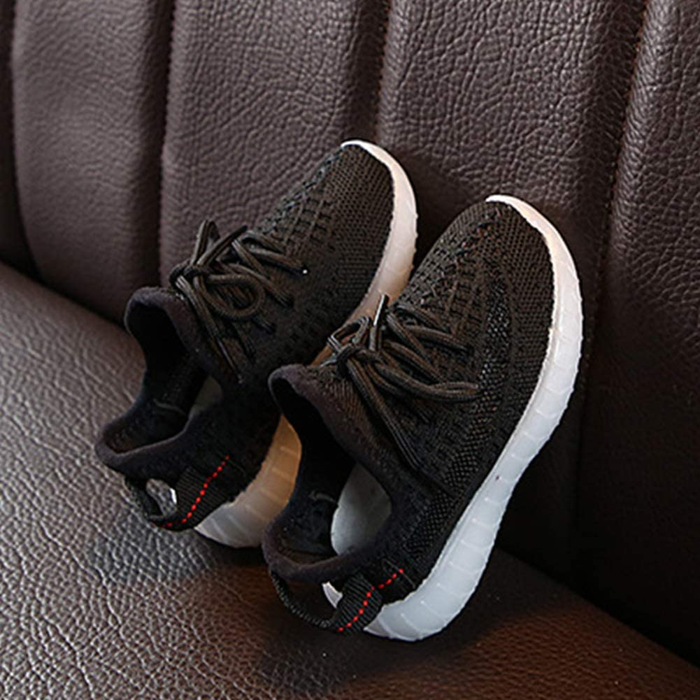 Daclay Kids Shoes Boys and Girls Shoes Sneakers Flying Woven Sports Casual Breathable Luminous Running Shoes Childrens Shoes