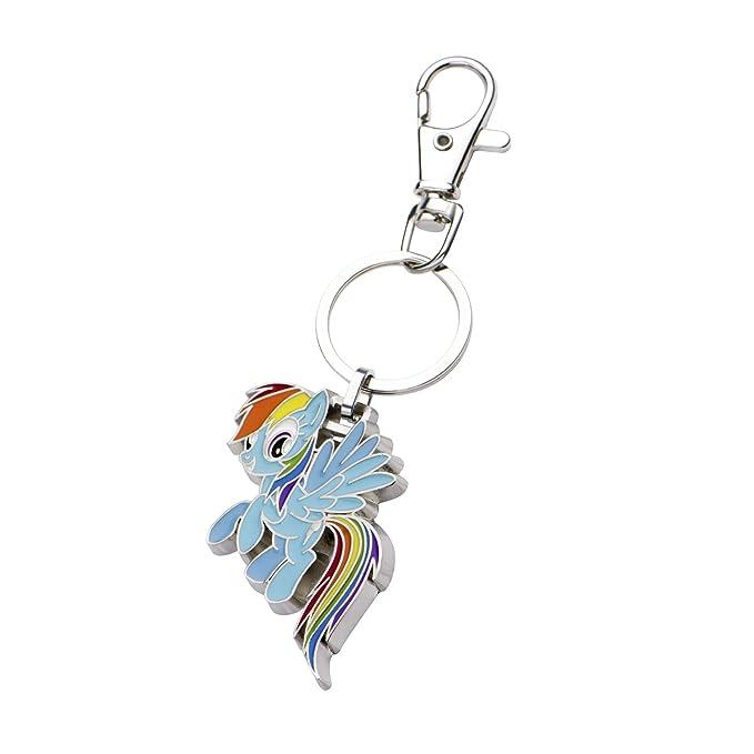 My Little Pony Rainbow Dash Stainless Steel Llavero: Amazon ...