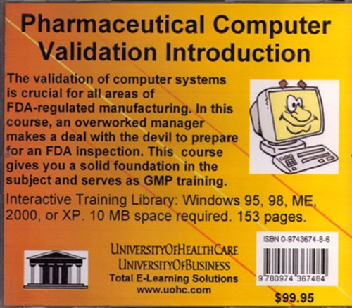 Pharmaceutical Computer Validation Introduction by University Of Health Care