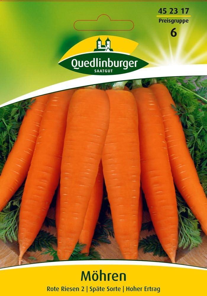 *Die Gesunde Möhre Karottensamen 1500+ Samen Karotte *Lange Rote ohne Herz* 3g
