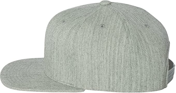 69cf7198785 Image Unavailable. Image not available for. Color  Flexfit Wool Blend Flat  Bill Snapback Cap.