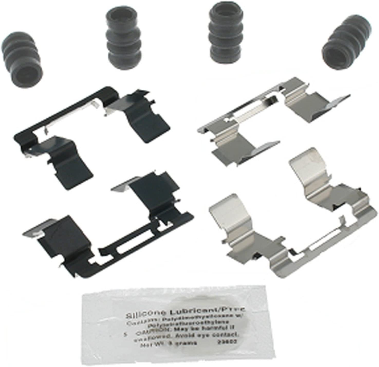 and Lubricant ACDelco 18K1740X Professional Front Disc Brake Caliper Hardware Kit with Clips Seals