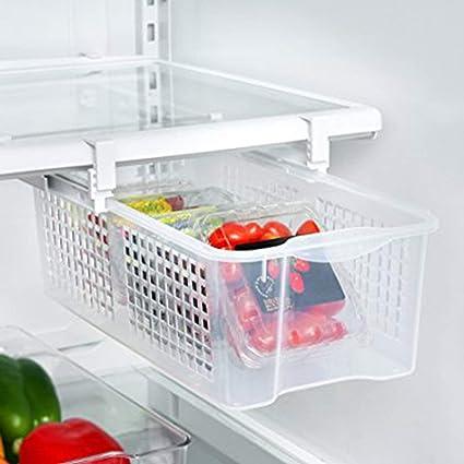 Cojinetes grandes Refrigerador de plástico Extraíble Bandeja Snap Cajón Uso en el hogar Fácil de instalar