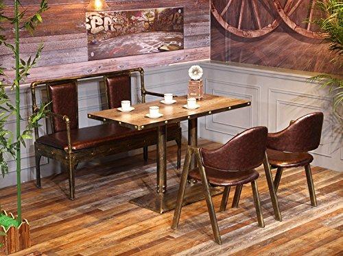 Artetdeco.eu Lot de 4 Chaises JAK M/étal Design Luxe Loft Industriel Minimalist Retro Vintage