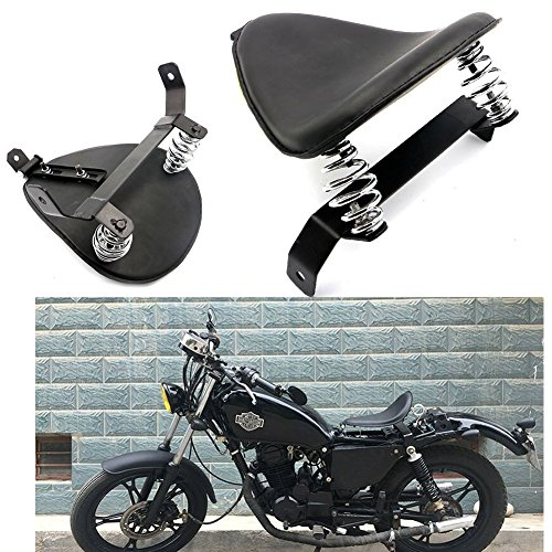 Motorcycle Modify Black SOLO Seat Saddle Bracket Springs Mount Kit For Harley Chopper Bobber Custom Honda Yamaha Kawasaki Suzuki ()