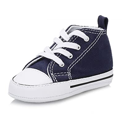 41bb4576dbfa Converse All Star Chuck Taylor First Star Baby Navy Blue Booties   Amazon.co.uk  Shoes   Bags