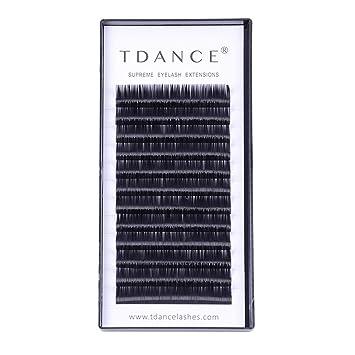 73d263147ef TDANCE Premium CC Curl 8-18mm Semi Permanent Individual Eyelash Extensions  0.05-0.25mm