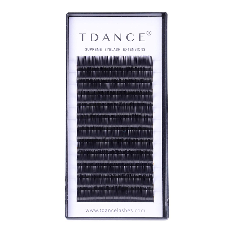 ba09d0fac42 TDANCE Premium C Curl 8-18mm Semi Permanent Individual Eyelash Extensions  0.05-0.25mm