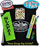 """Tenzi Dice Game, 77 Ways To Play Tenzi Expansion Cards & Slapzi Card Game Deluxe Gift Set Bundle with Bonus """"Matty's Toy Stop"""" Storage Bag - 3 Pack"""