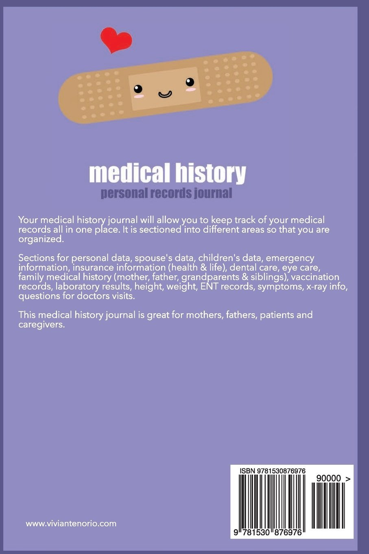 medical history personal records journal vivian tenorio