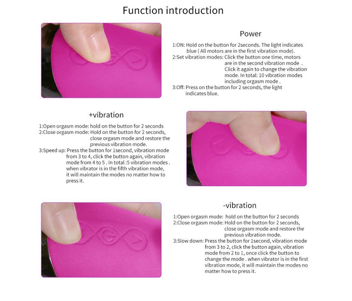 My's baby Ldygl masajeador de 10 clítoris Tiene 10 de Tipos de Modos de vibración(19.9 cm)   Vibrador Doble 100% Impermeable de la vibración de Las Mujeres y masajeador del clítoris, Purple 634d09