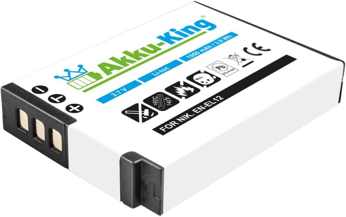 Akku King Akku Kompatibel Mit Nikon En El12 Li Ion Kamera