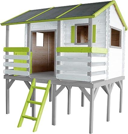 SOULET Romane - Casa de juegos con pedestal + antesala para jardín ...