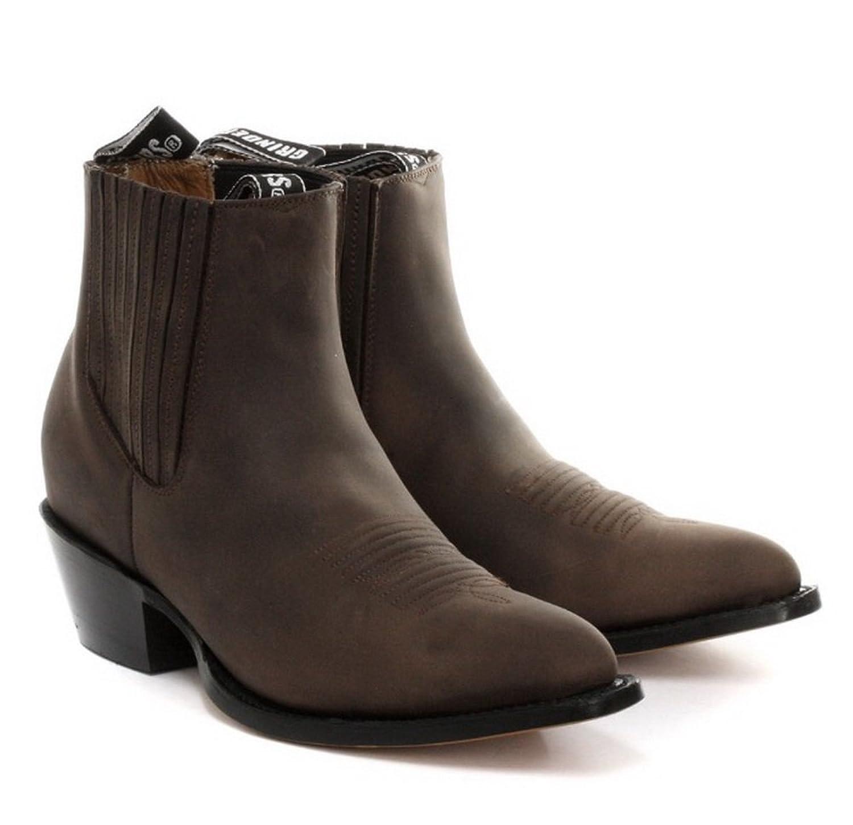 Grinders Maverick Brown Mens Western Cowboy Boots: Amazon.co.uk: Shoes &  Bags