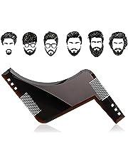 Beard Shaping Tool & Comb - Kit de Herramientas para Hombre Premium Quality Beard Stencil - Beard Comb para líneas y Bordes