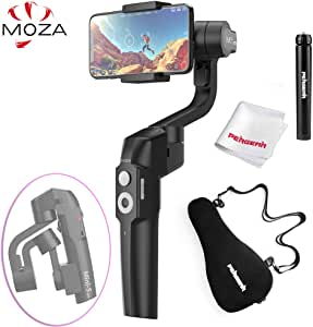 MOZA Mini-S Smartphone Gimbal, One-Button Zoom Object Tracking Hyper-Lapse Inception Vertigo Foldable 3 Axis Gimbal Stabilizer for Smartphone Like iPhone Xs/Max/Xr/X/8/7/6 Plus Samsung Note 8/S8