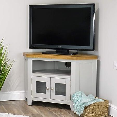 Sydney - Mueble esquinero para televisor de 38 Pulgadas (90 cm, Madera de Roble), Color Gris: Amazon.es: Hogar