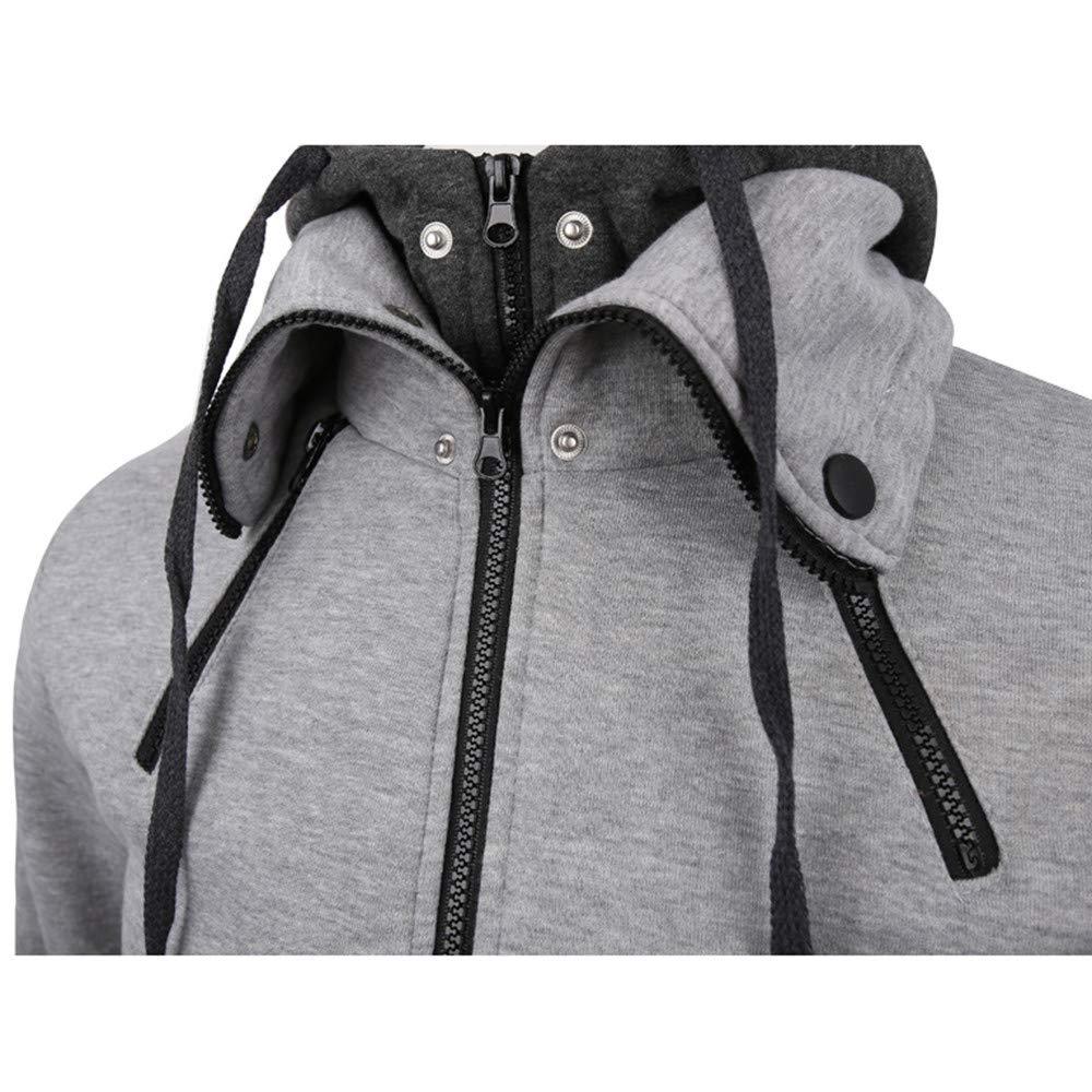 Clearance Mens Coat Muranba Autumn Winter Warm Casual Hooded Coat Jacket