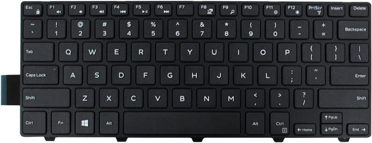 ACOMPATIBLE Keyboard for Dell Inspiron 14 3000 Series 3441 3442 3443 3445 3446 3447 3449 3451 3458 3459/14 5000 Series 5442 5443 5445 5446 5447 5448 5451 5455 5457 5458 5459/14 7447 No Backlight